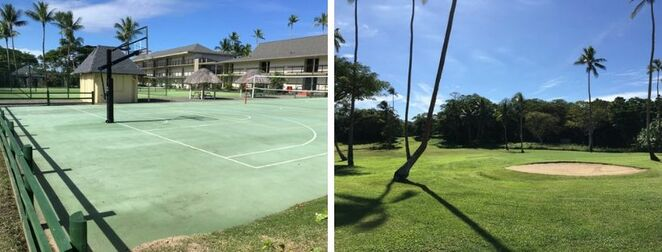 Shangri-La, Shangrila, Fiji, Viti Levu, Resort, Spa, pool, beach, water, lagoon terrace restaurant, swimming, palm trees, sunny, weather, warm,golf, golf course, tennis, sport, basketball, activities, exercise, play, games, bunker,