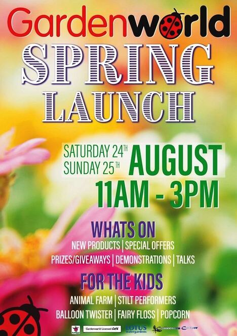 spring launch 2019, garden world, collectors corner garden world, community event, fun things to do, free gardening event, braeside, activities, entertainment, product demos, special offers, prizes, giveaways, fun stuff for kids, kids activities, green thumb, garden adornments