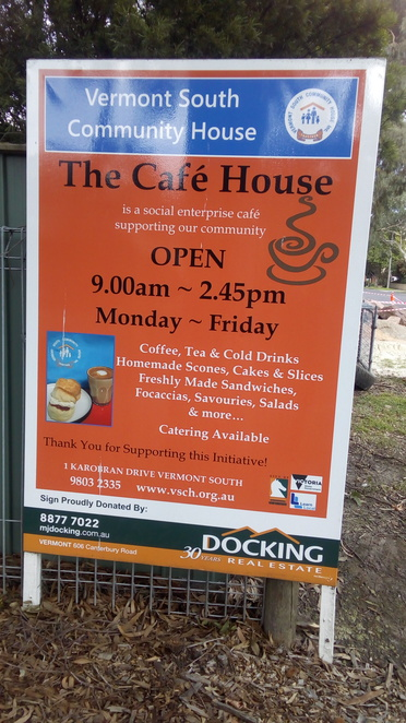 The Cafe House Sign