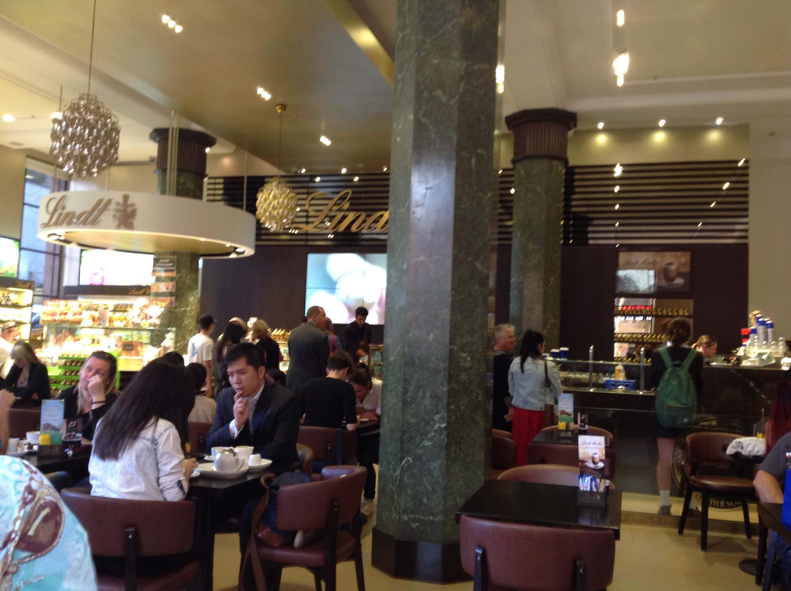 Lindt Chocolate Cafe, Martin Place - Sydney - by Caroleann