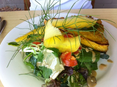 Vegetable frittata and side salad