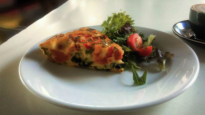 vegetable frittata coffee depot cafe lunch