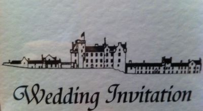wedding, invitation, invite, blair castle, make it yourself, card making