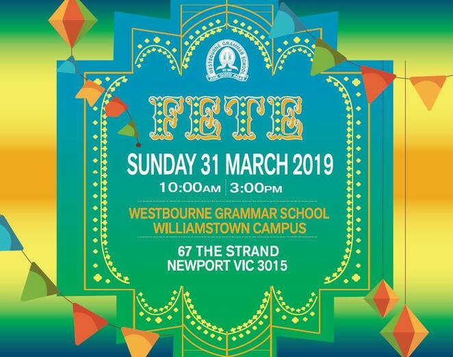 westbourne fete 2019, fundraiser, community event, fun things to do, rides, animal farm, fun for kids, westbourne grammar school, williamstown campus, newport, special guest suong pham, mkr, free event, family fun, fair fun, festival