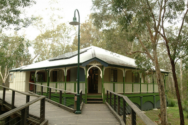 Photo of the Boondall Wetlands Visitor Centre courtesy of the Brisbane City Council