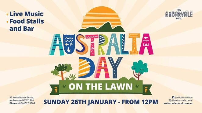 australia day 2020 on the lawn, community event, fun things to do, live music, food stalls, bar, ambarvale hotel, free event, outdoor games, entertainment, activities, six strings, backyard party