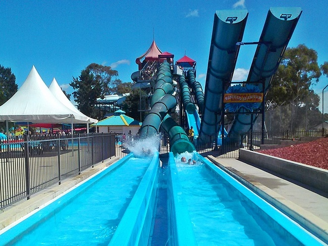 big splash waterpark, canberra, summer, kids, family friendly, ACT, swimming pools, swimming, play, kids, parties,