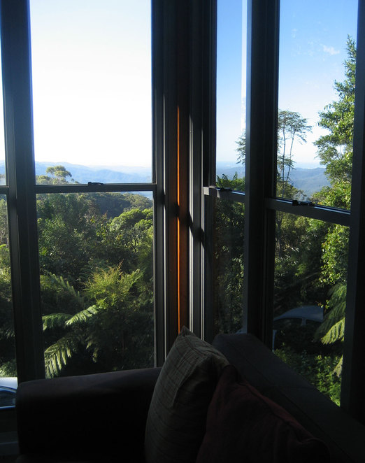 The view from the Lamington Teahouse