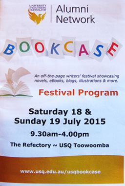 Bookcase Writers Festival flyer