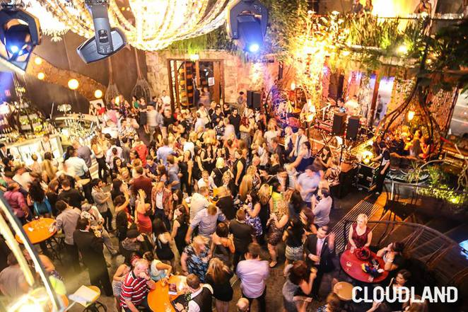 Partying at Cloudland