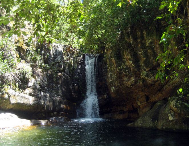 If you can find it, the falls at the end of the walk is one of the best swimming holes in the area