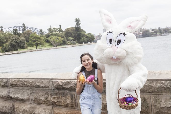 Easter egg hunt, royal botanic garden Sydney family, Sydney