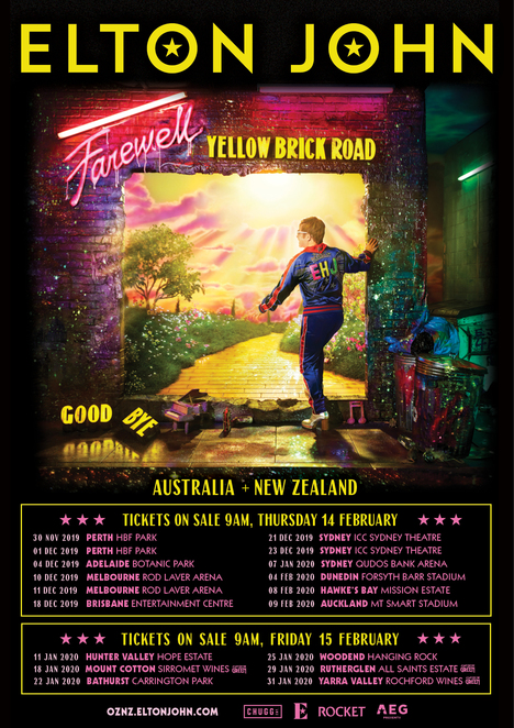elton john yellow brick road tour adelaide