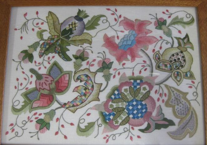 Embroiderers' Guild Qld work box lid