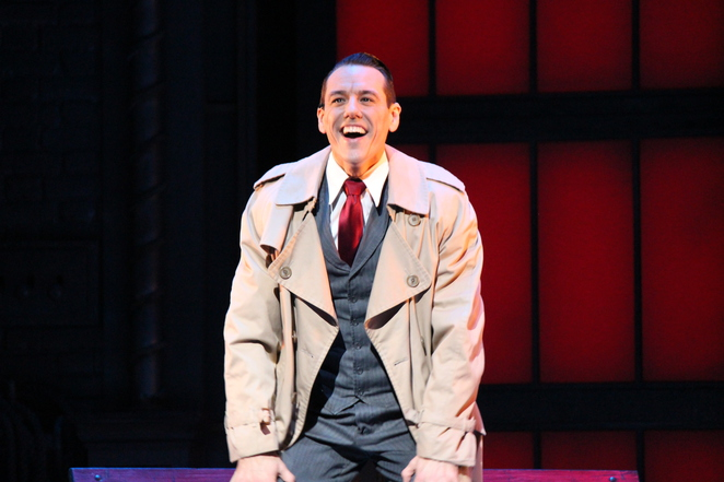 Grant Almirall as Don Lockwood in Singin' in the Rain at Lyric Theatre