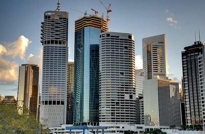 Skyscrapers in the Brisbane CBD taken from Kangaroo Point by EzykronHD