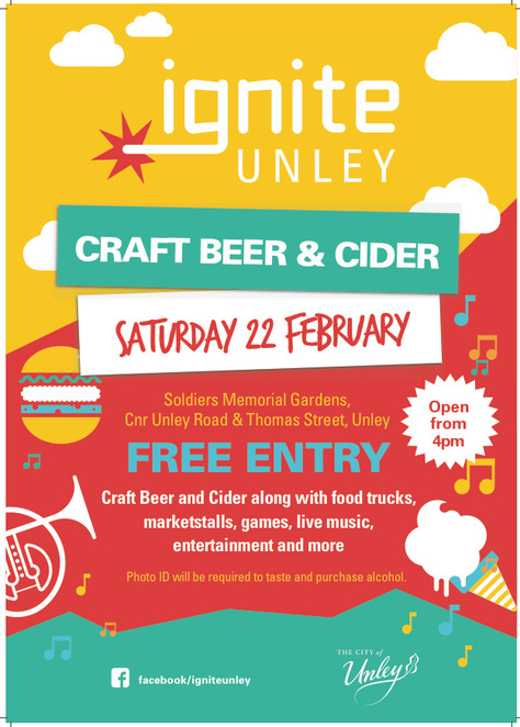 Ignite Unley Craft Beer and Cider Tasting