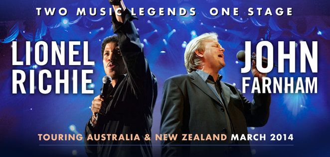 John Farnham and Lionel Richie