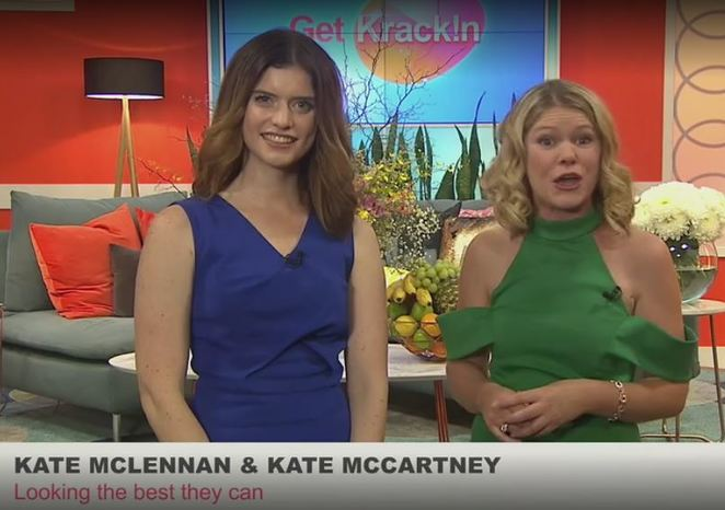 kate McClennan, Kate McCartney, Get Krack!n, ABC comedy, daytime tv parody, feminist satire