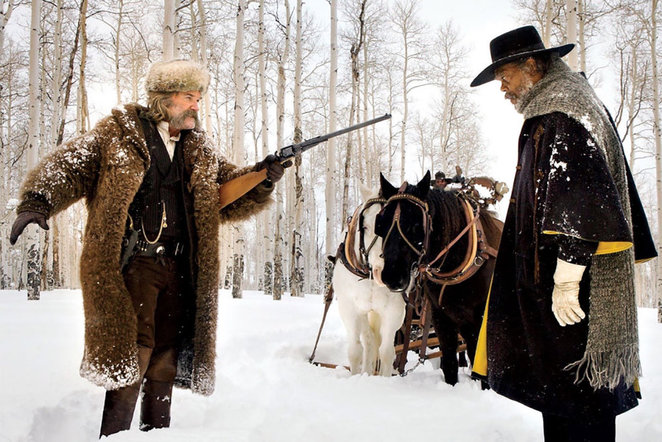 Quentin Tarantino's The Hateful Eight - Kurt Russell and Samuel L. Jackson