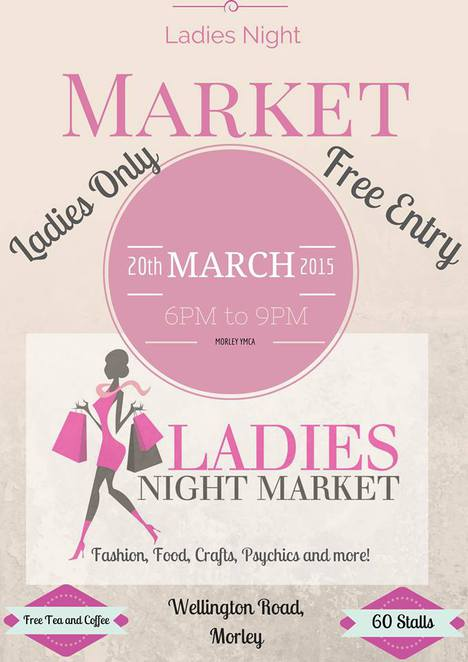 ladies night market, morley, fashion, food, crafts, psychics, free entry, ladies only, free refreshments
