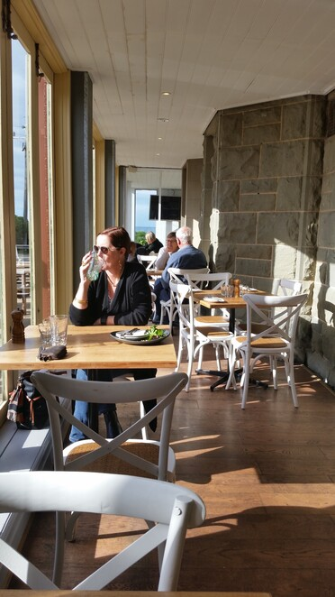 Lovely sunny bistro warm on a winters day - All Photos by Tricia Ziemer