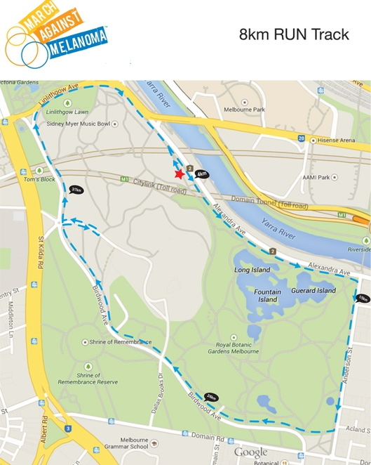 8KM Map March against Melanoma