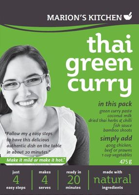 Marion's Kitchen Thai Green Curry, purchased from Coles supermarket $5.99