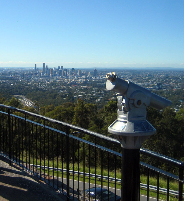 The Mt Coot-tha summit is a popular destination for couples