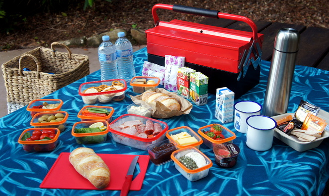Grab a picnic hamper or toolbox from Mt Glorious Picnic Hampers