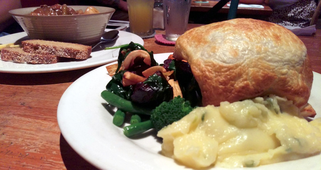 A hearty winter meal at Clancy's Irish Bar & Restaurant on Mt Tamborine