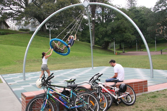 Myers Park, playground, Auckland