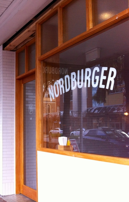 Nordburger burger adelaide hot dog joints norwood takeaway cheap American restaurants cafe fries shakes tater tots MasterChef Michael Weldon