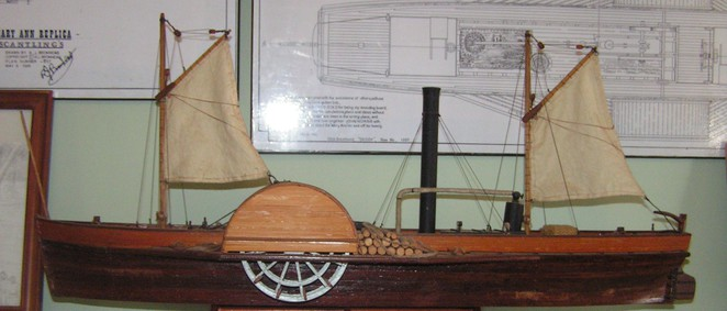 paddlesteamer, riverboat, Wentwoth, model