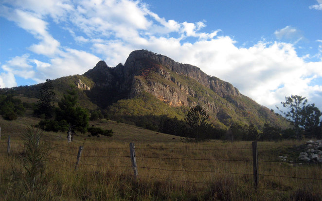 Mt Maroon is one of the easiest mountains to ascend