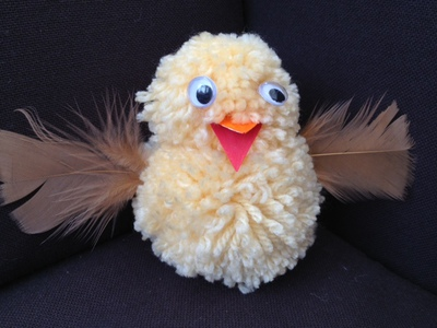 pom pom easter chick, easter, craft, kid