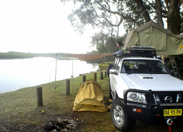 riverside camping, myall lakes, myall river camp, camping, fishing