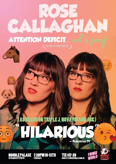 rose, callaghan, fringe, perth, ADHD, comedy