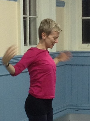 Sarah Woodhouse teaching pilates at South Melbourne Commons