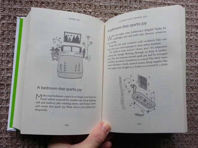 Spark Joy, Marie Kondo, An Illustrated guide to the Japanese Art of Tidying, a home that sparks joy
