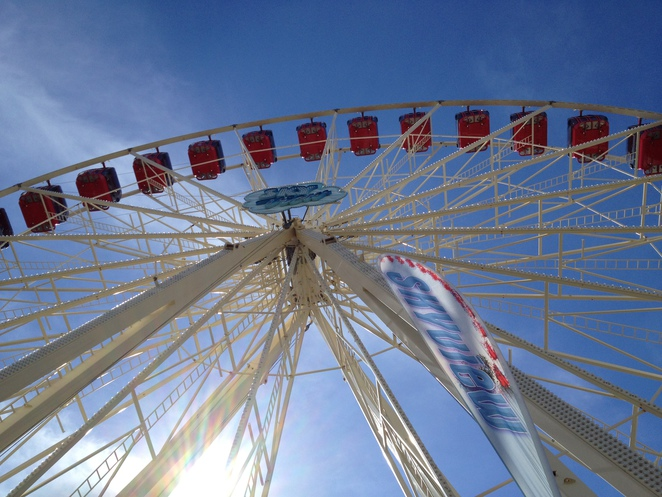 This air-conditioned Ferris' Wheel gives you a rare aerial view of the Sydney Royal Easter Show grounds.