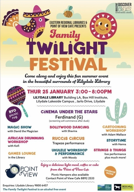 Twilight festival, free, Lilydale, outdoor cinema, family, Ferdinand,