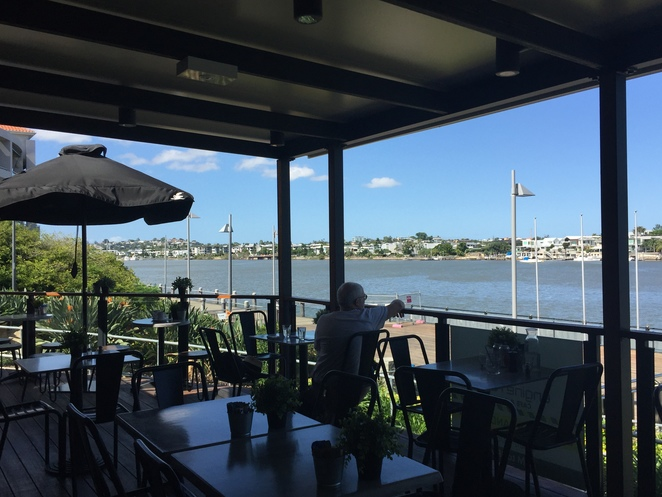 view, coffee, engine room cafe, teneriffe, afternoon tea, city, riverside, dog friendly cafe, outing, day trip