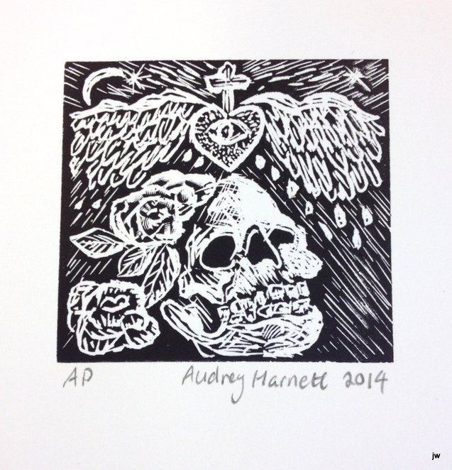 wood engraving, David Frazer, woodblock, printmaking, inking