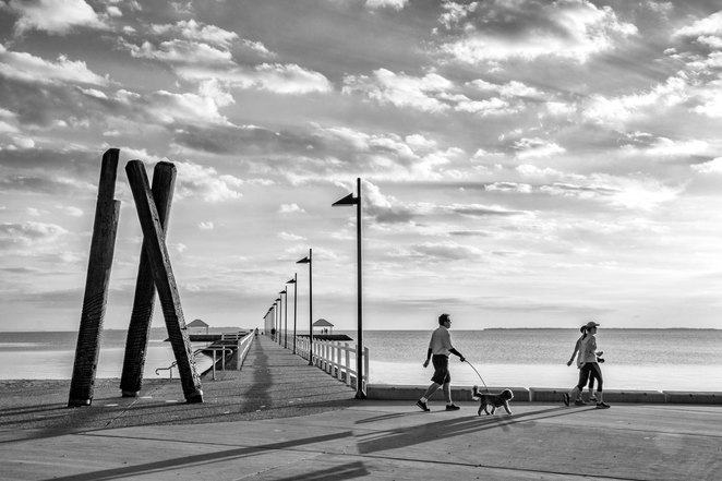 Wynnum jetty, pier, Manly, Quandamooka