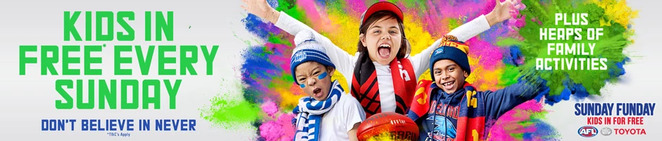 AFL SUNDAY FUNDAY ETIHAD STADIUM 2018 KIDS