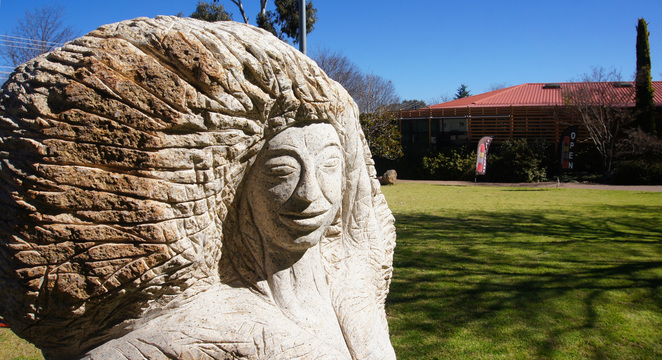 Weeroona Park in Stanthorpe is a great place to start the art walk, with sculptors in the park and the regional art gallery as well
