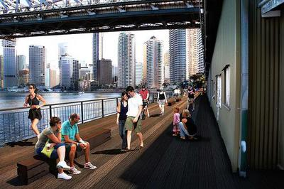 Artist's impression of Howard Smith Wharves, Brisbane