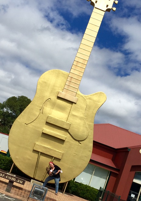 Big golden guitar