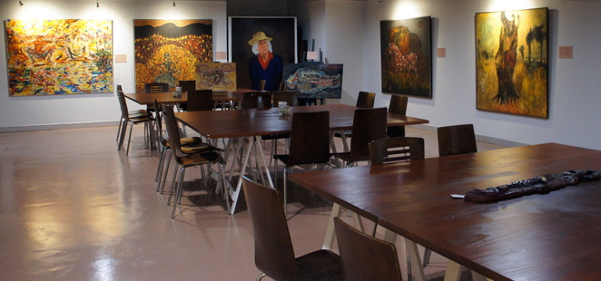 Enjoy indigenous inspired food surrounded by artwork by great local artists